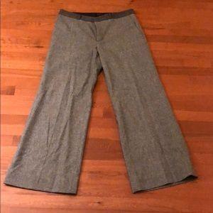 Banana Republic Wide Leg Tweed Dress Trousers
